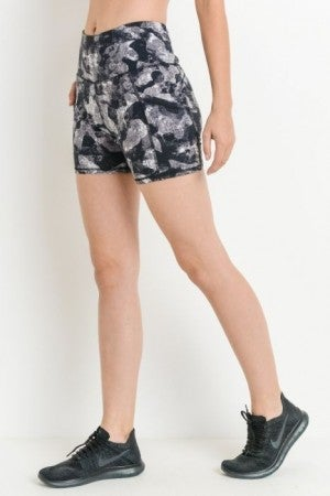 Tight Workout Shorts with High Waist Band by Mono B