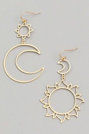 Sun and Moon earring