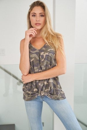 Lisa Camo Top by White Birch