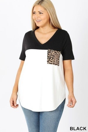 Leopard Pocket Tee (all sizes)