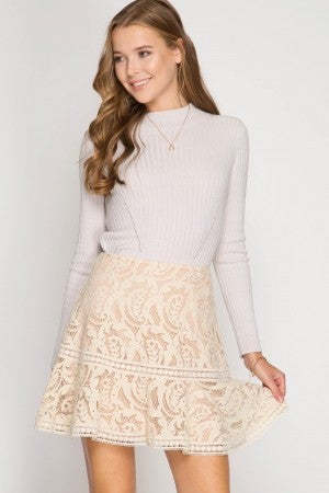 Lace Trumpet Skirt
