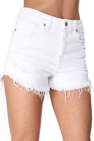 Lulu White Jean Shorts