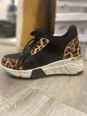 Animal Print Tennis Shoe