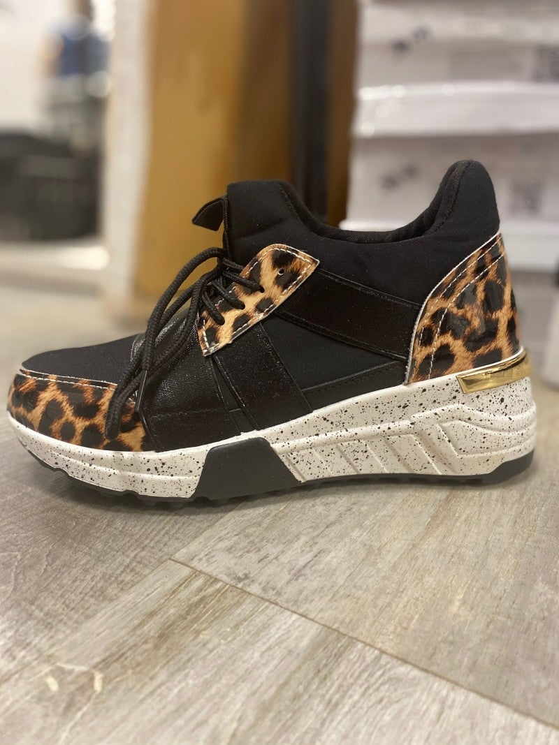 Animal Print Tennis Shoe
