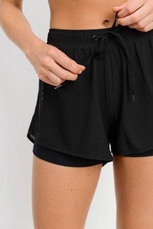 Lined Workout Shorts by Mono B