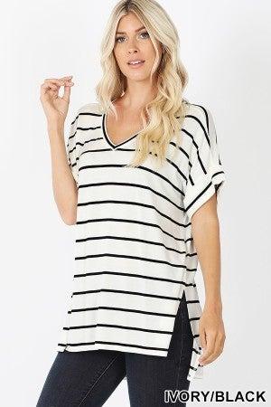 Stripe Loose Fit Shirt (multiple colors)