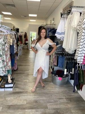 Wrap Dress Ruffle dress