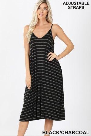 Stripe Dress Midi (all sizes)