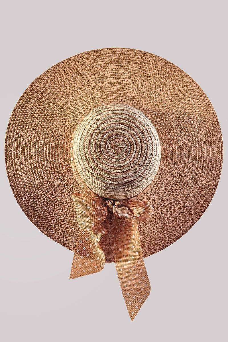 Floppy Hat with Bow in Natural