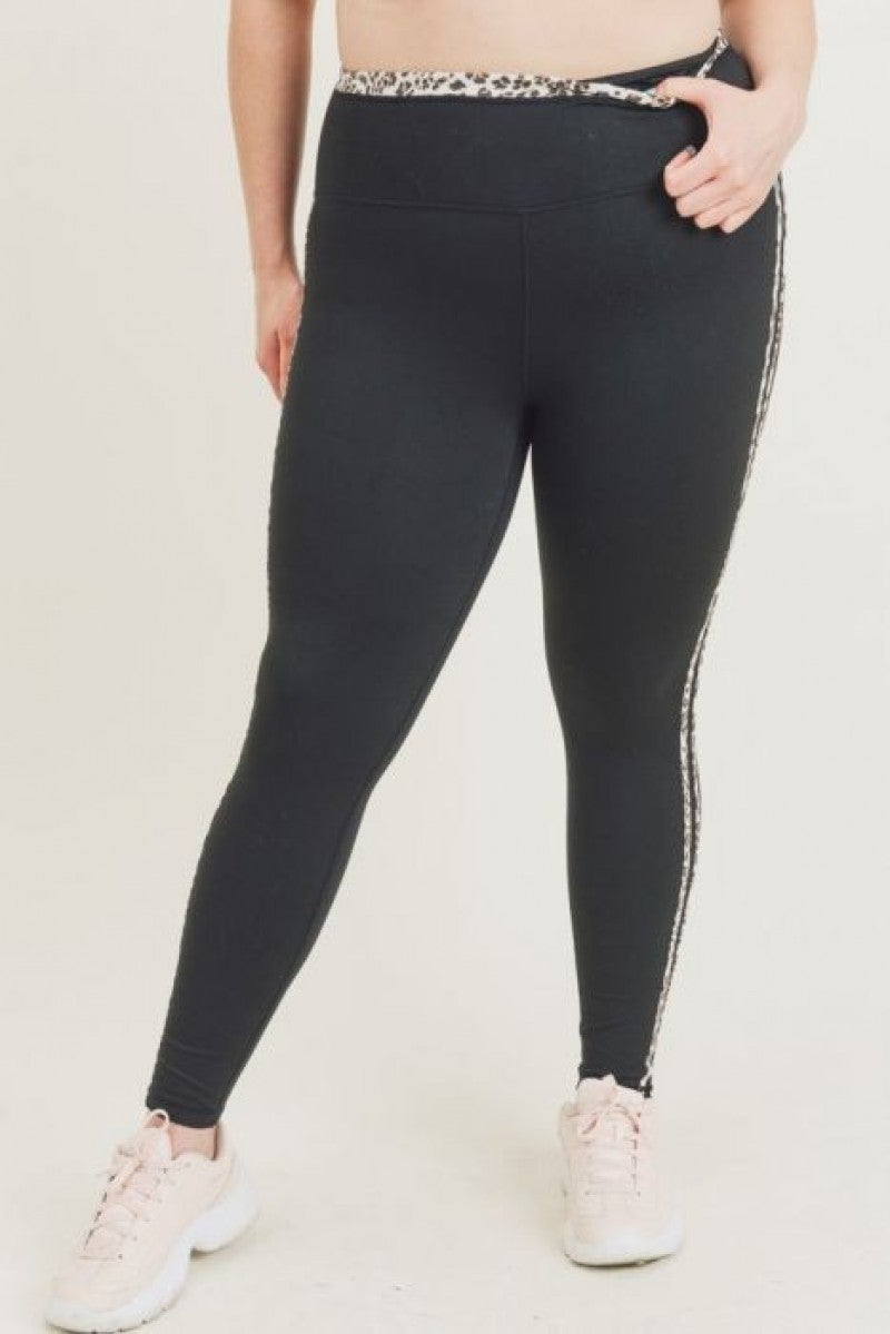 Jaguar Stripe Curvy Legging by Mono B