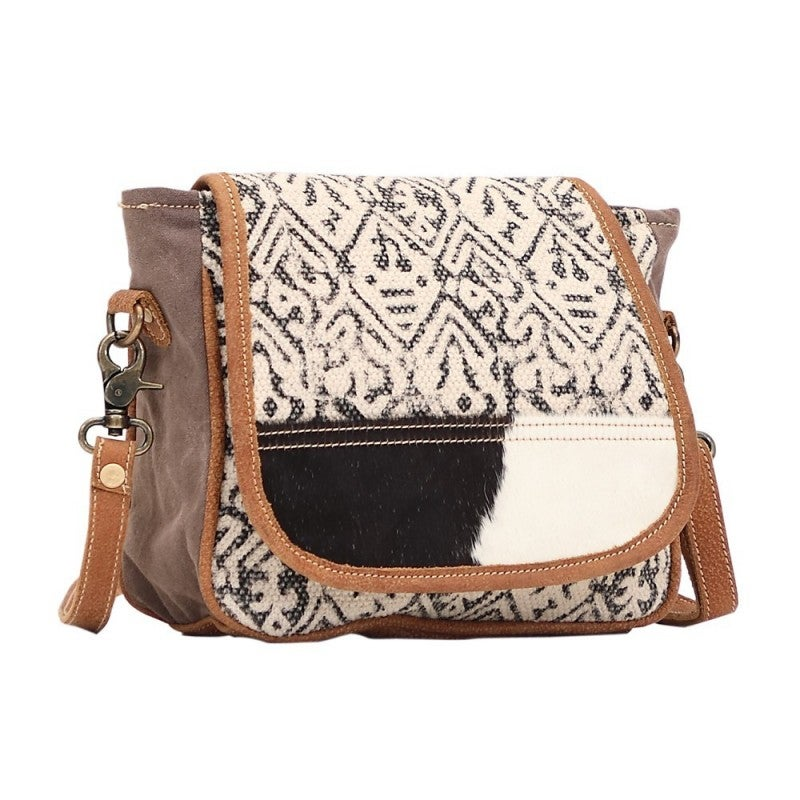 Monochrome Messenger Bag