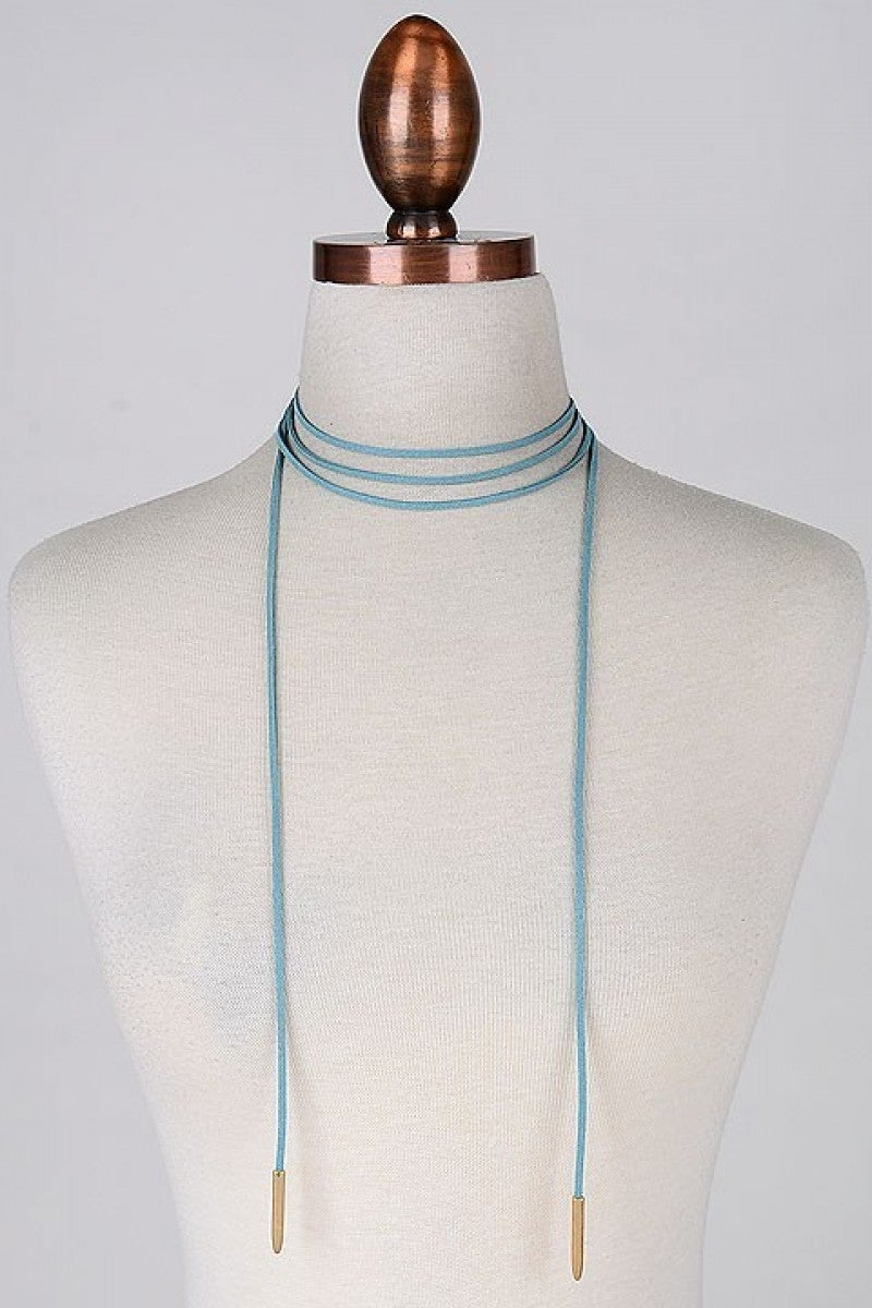 Bohemian Full Suede Cord Wrap Necklace