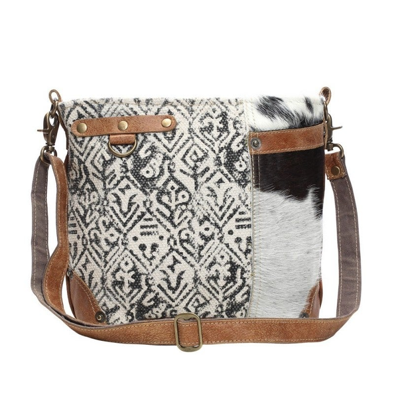 Hairon and Cotton Rug Shoulder Bag