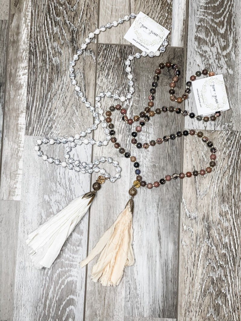 Wood Beaded Fringe Tassel