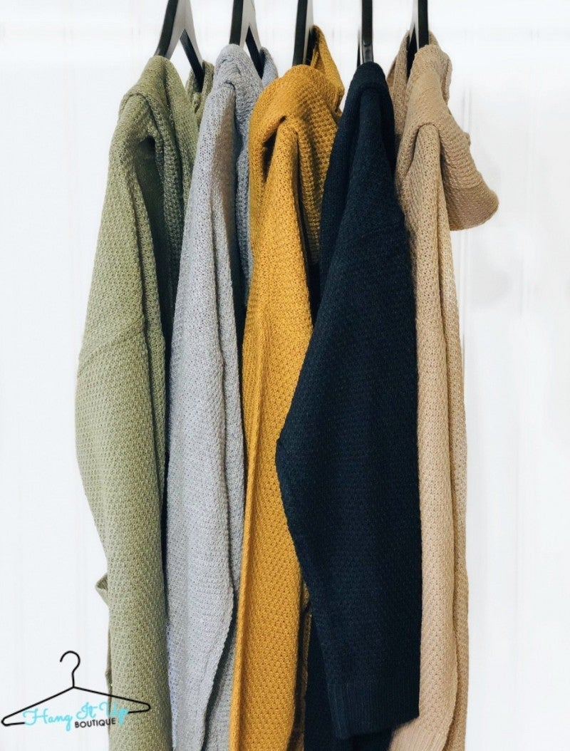 Cozy Thoughts Cardigan- Grey