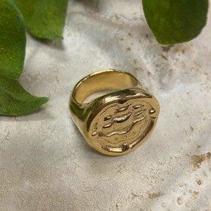 Navy Gold Ring