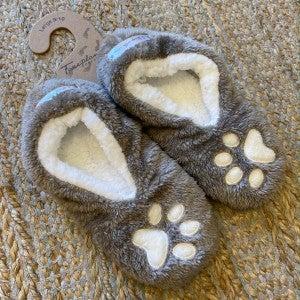 FOOTSIES DOG PAW GRAY