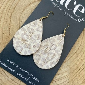 ACE Earrings/Large Animal Printed Teardrop