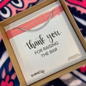 Thank you for Raising the Bar Necklace
