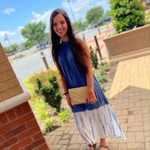 Karen Maxi Dress Stonewash