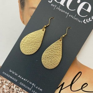 ACE Earrings/Small Metallic Teardrops
