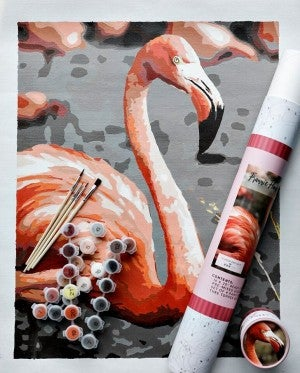 Frannie Flamingo Paint by Number