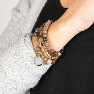 Fancy Jasper Focus Gemstone Bracelet from $25