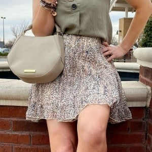 Blush Vines Print Skirt