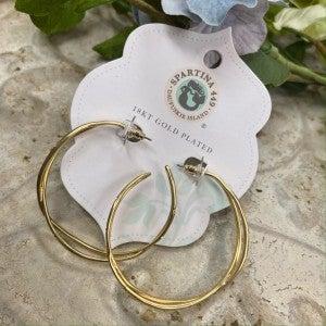 Spartina Sprinkles Hoop Earrings Crystal