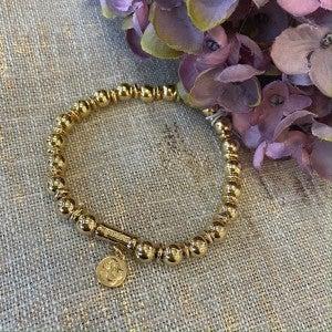 Gold 6mm Stretch Bracelet Spartina