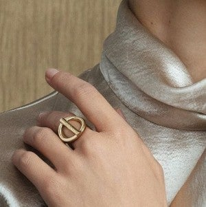 On/Off Gold Ring