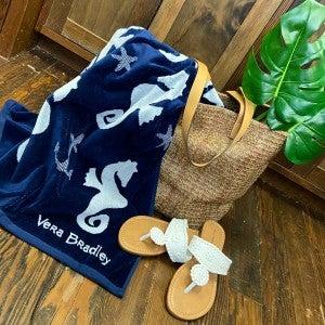 Vera Bradley Jacquard Beach Towel SeaHorse