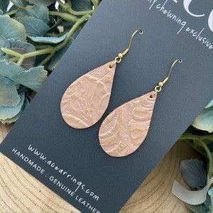 ACE Earrings/Small Embossed Teardrop