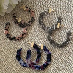 Acrylic Hex Earrings Katydid