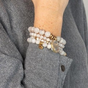 Gray Agate Be Thankful Gemstone Bracelets From $25