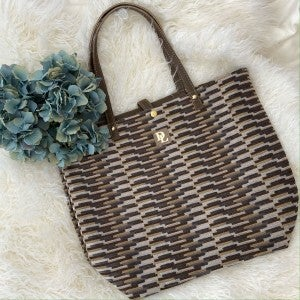 Grey and Mustard Houston Tote