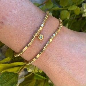 Oval Gold Stretch Bracelet Spartina