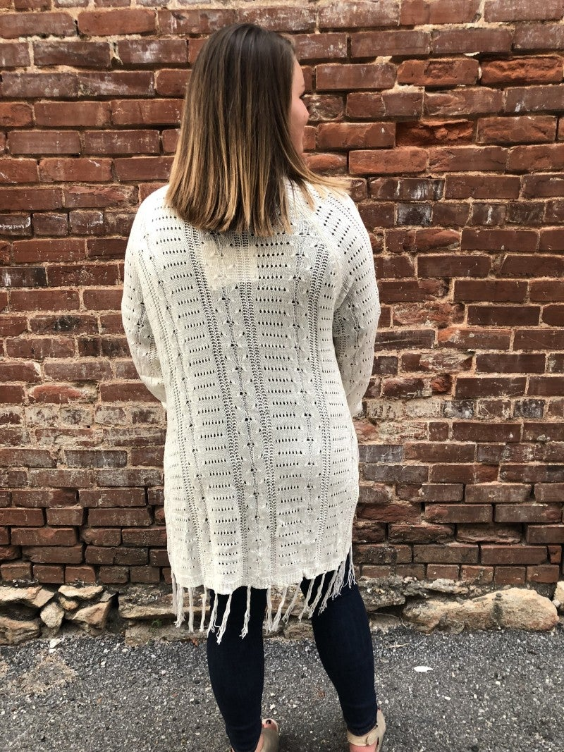 Fringe Sweater Cardigan *Final Sale*