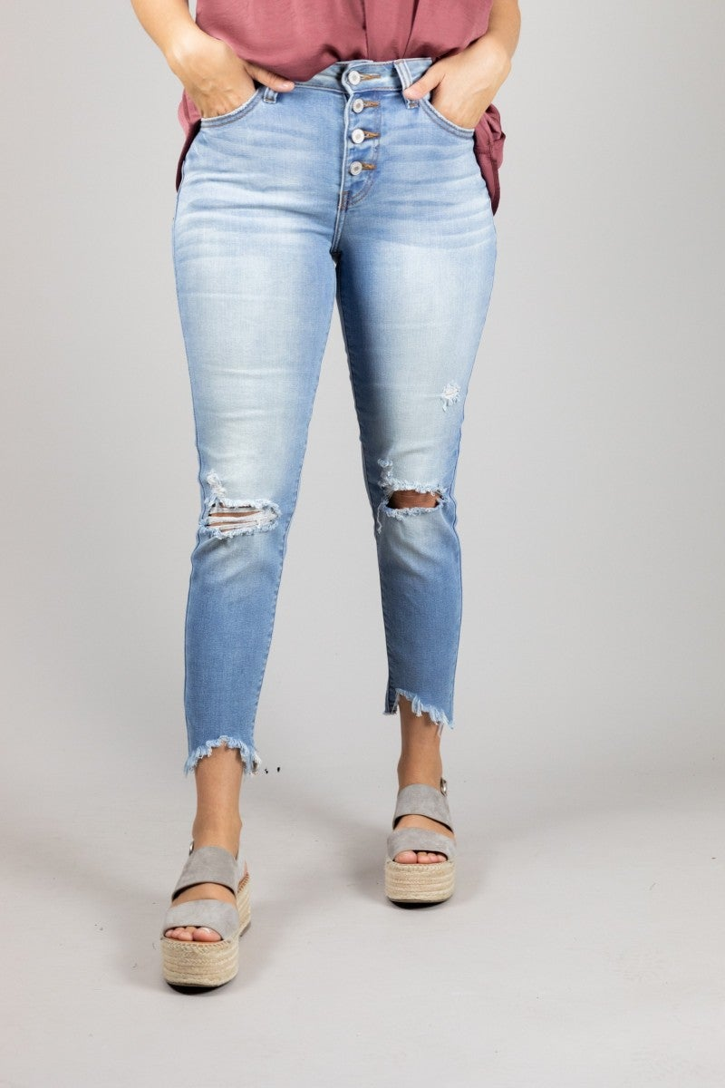 Snap Into Style Jeans