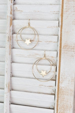 Seeing Double Star Hoop Earrings