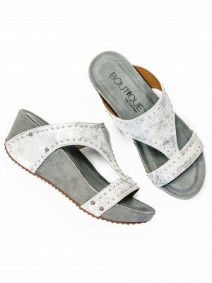 The Marley Wedge White