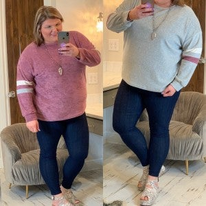 Making My Move Comfy Top Plus *Final Sale*