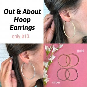 Out & About Hoop Earrings