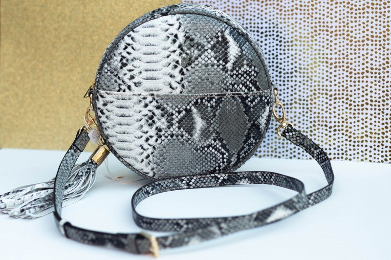 - Read Into This Round Crossbody