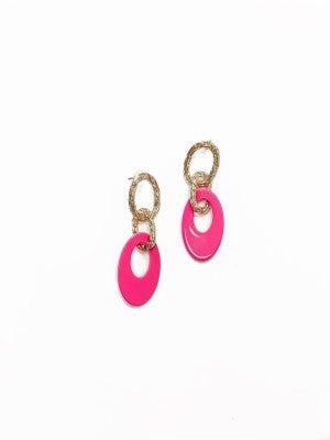 The Kate Earrings Fuchsia