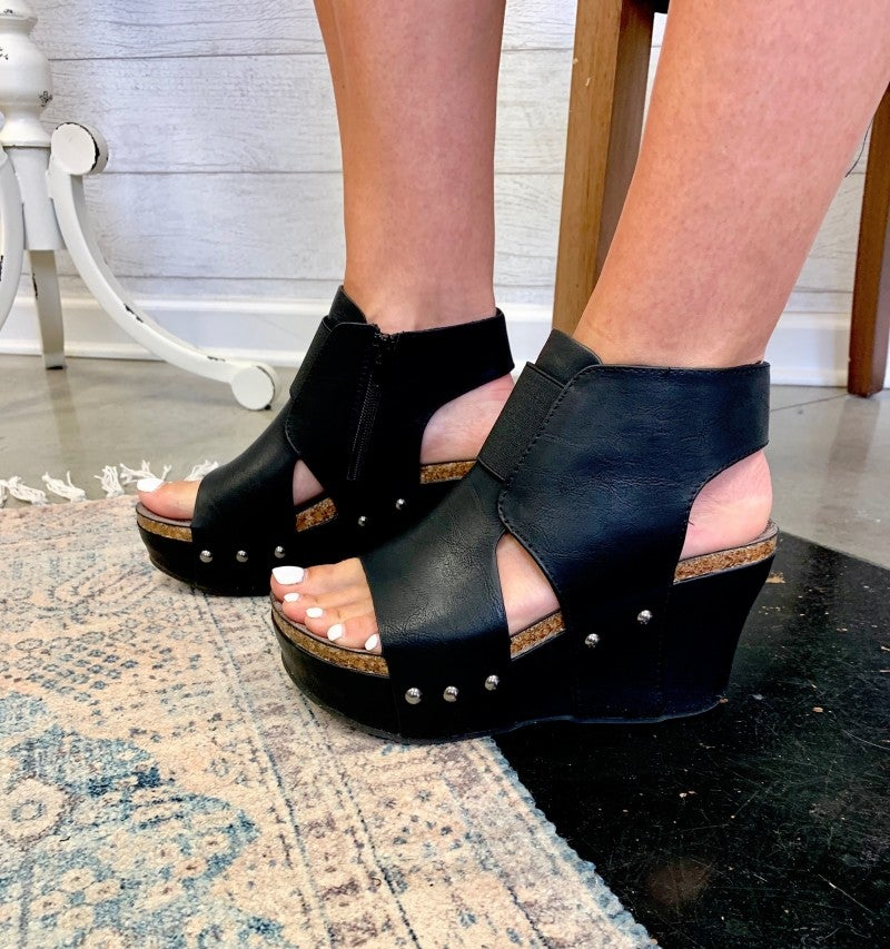 Sneak A Peek Wedge Black