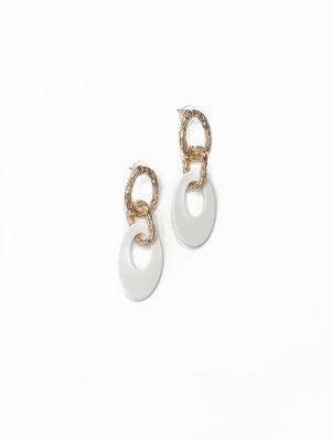 The Kate Earrings White