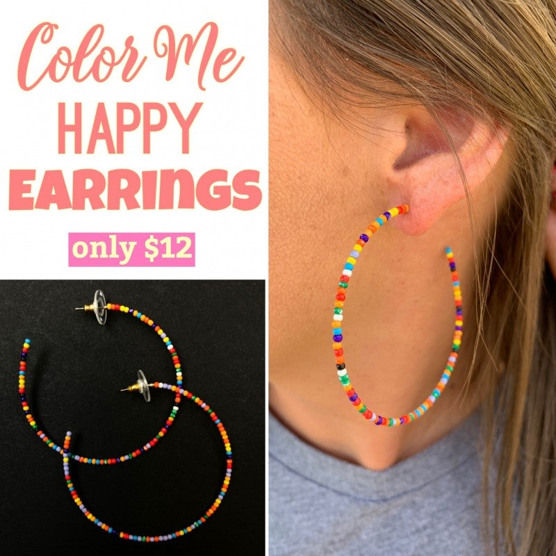 Color Me Happy Earrings FINAL SALE