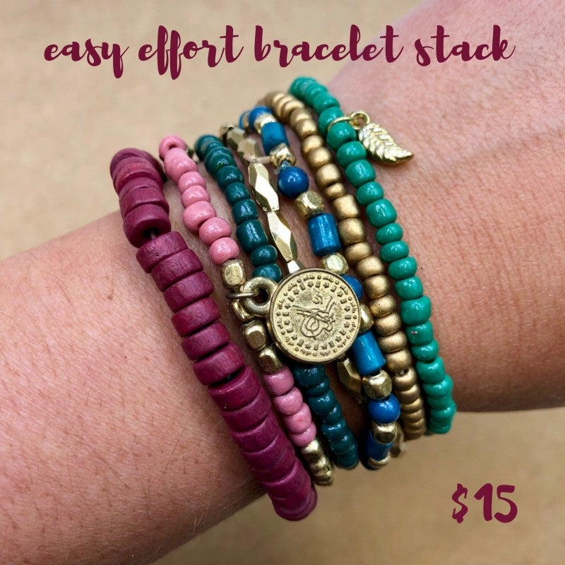 Easy Effort Bracelet Stack