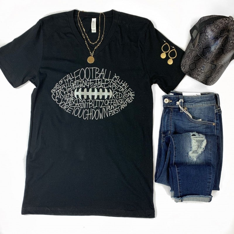 Football Words Graphic Tee